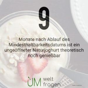 Wie lange ist Joghurt nach Ablauf des Mindesthaltbarkeitsdatum noch haltbar?